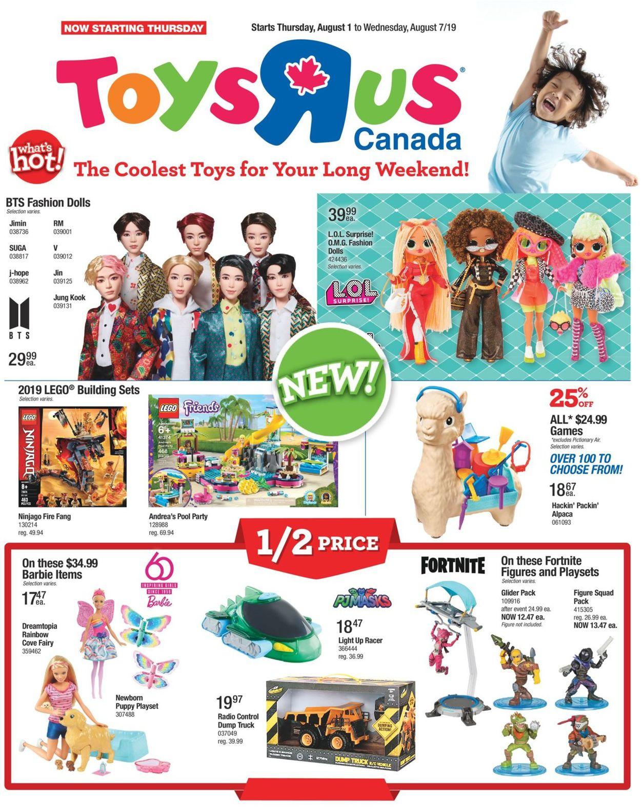 Toys''R''Us Flyer - 08/01-08/07/2019