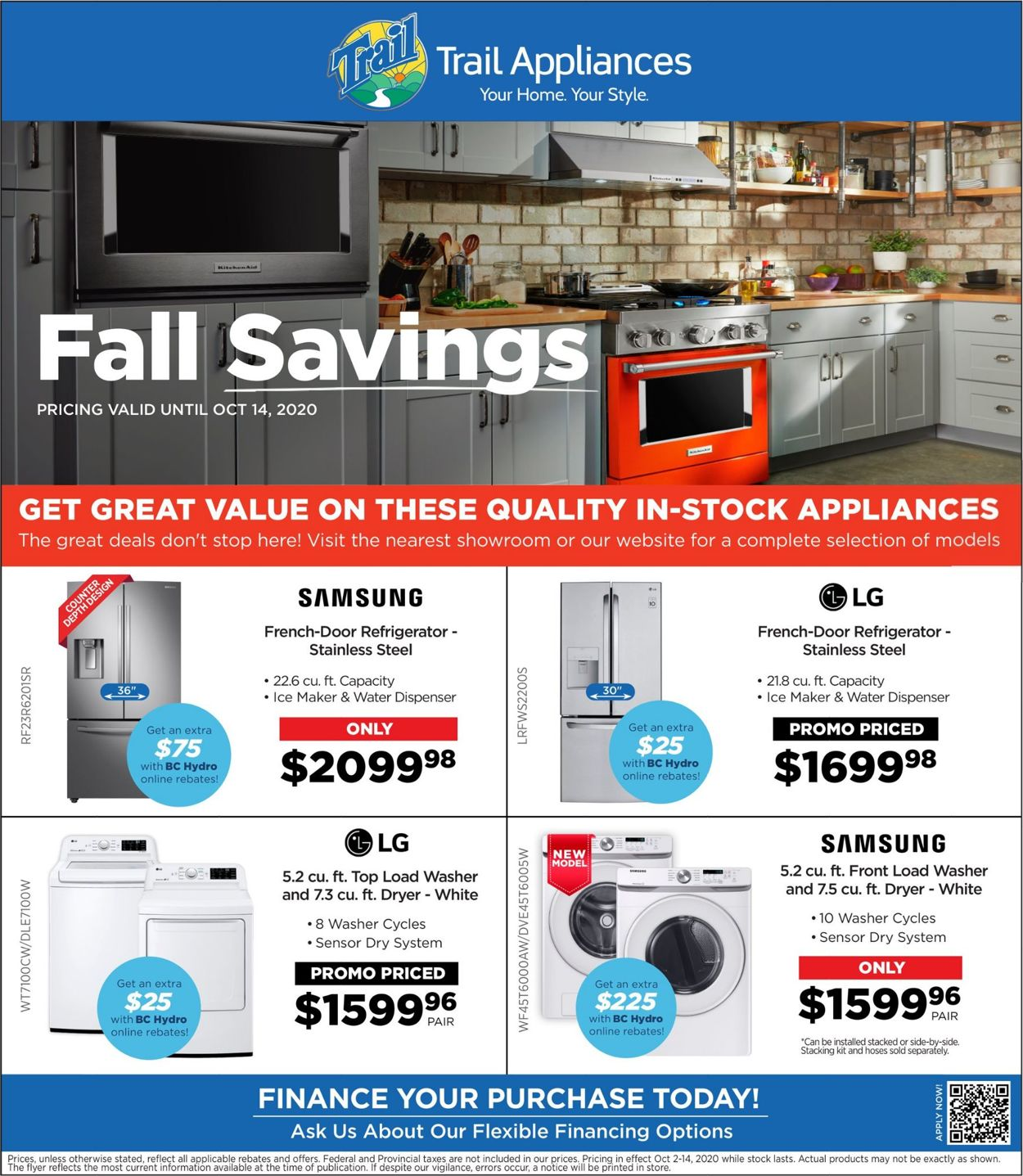 Trail Appliances Flyer - 10/02-10/14/2020