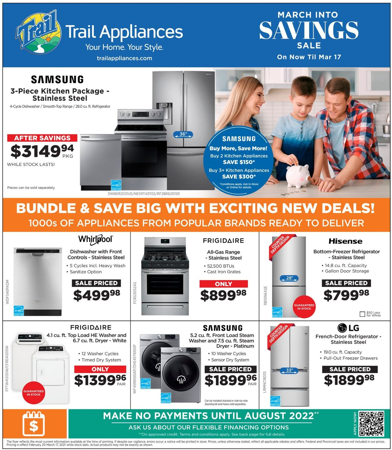 Trail Appliances Flyer - 02/25-03/17/2021