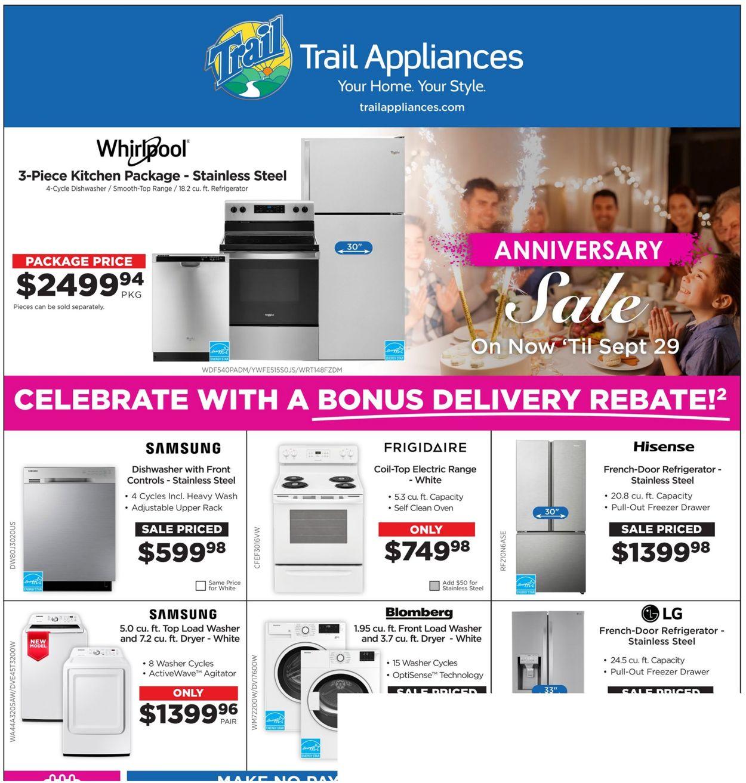Trail Appliances Flyer - 09/16-09/29/2021