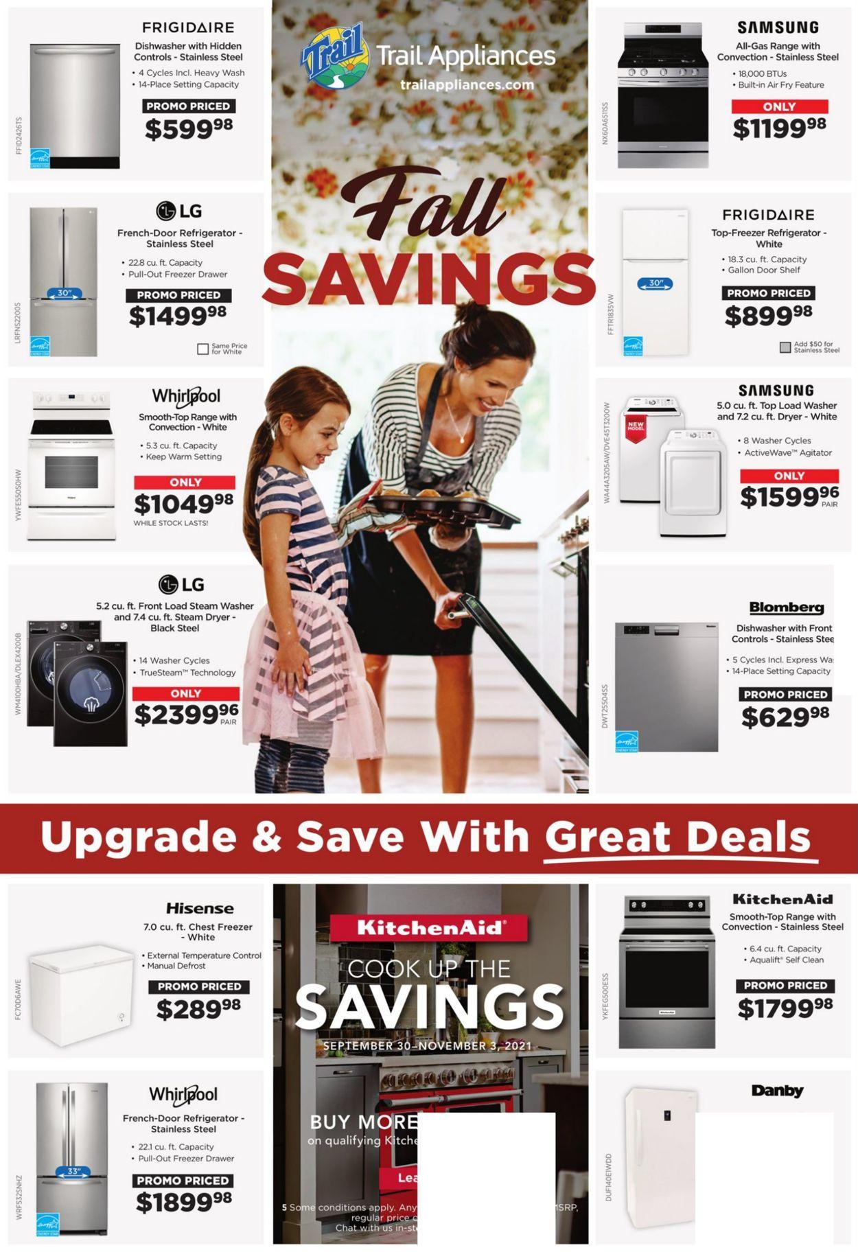 Trail Appliances Flyer - 10/01-10/14/2021
