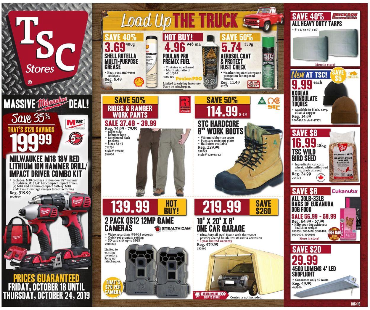 TSC Stores Flyer - 10/18-10/24/2019