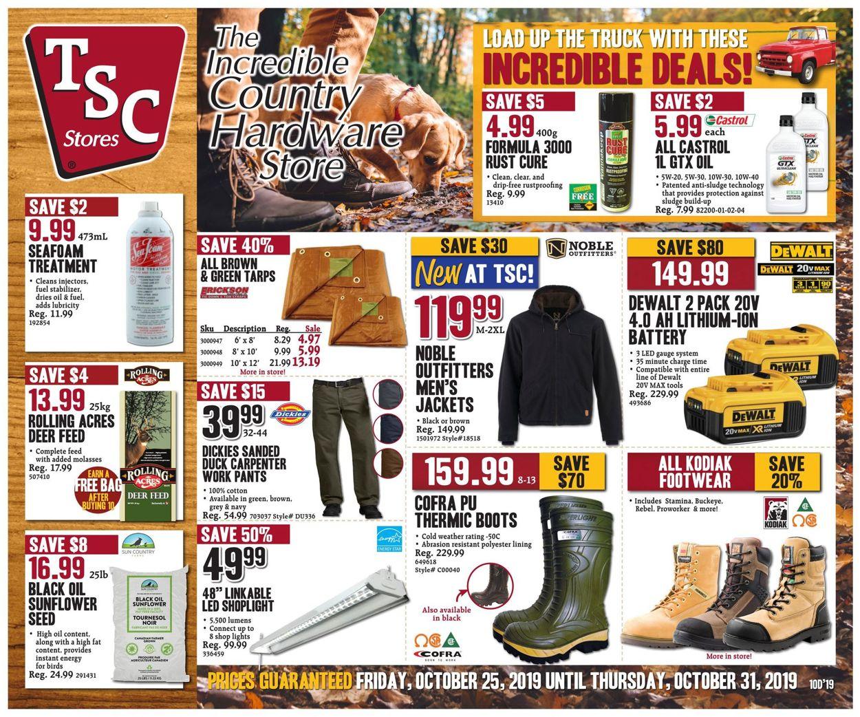 TSC Stores Flyer - 10/25-10/31/2019