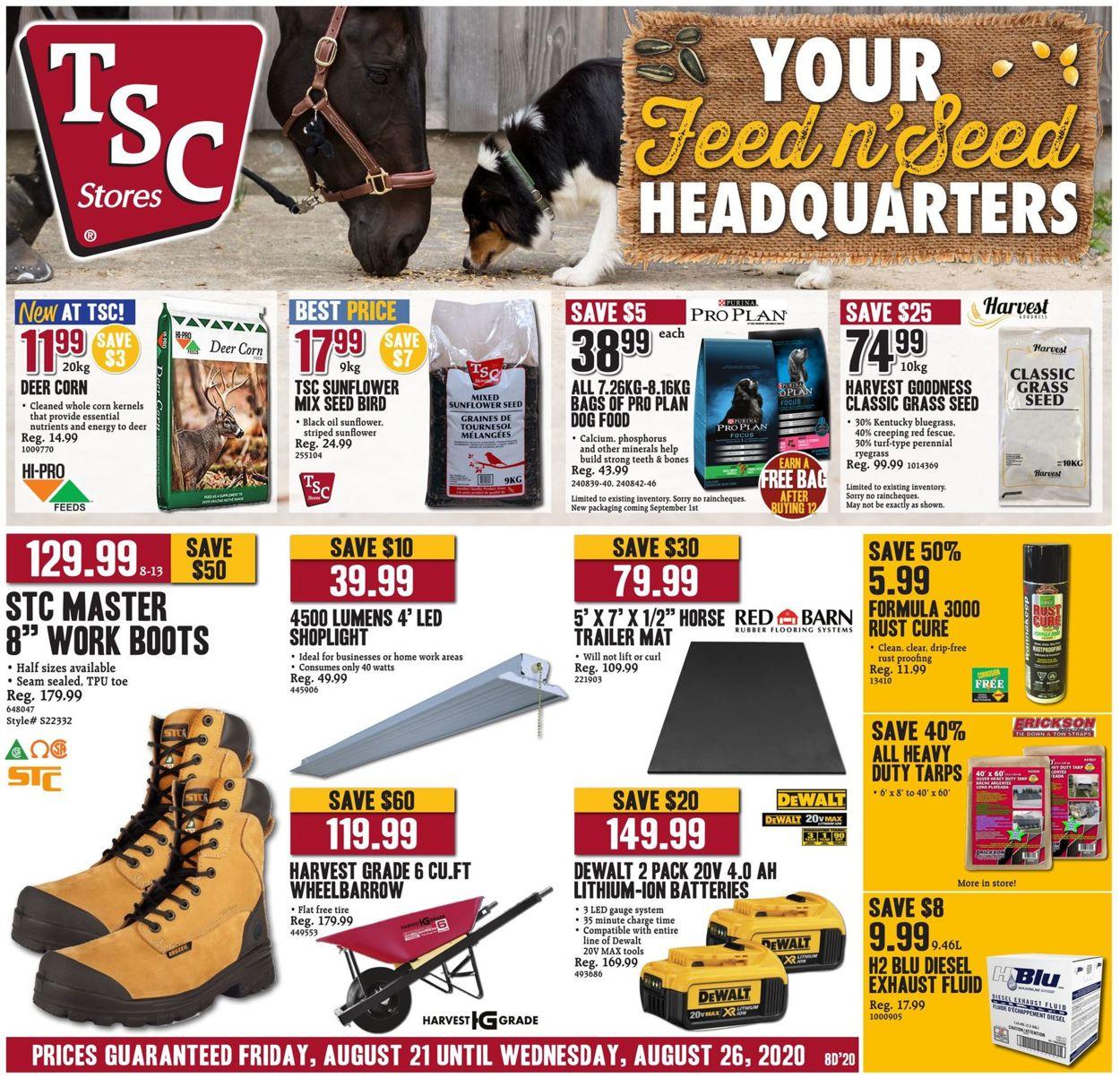 TSC Stores Flyer - 08/21-08/26/2020