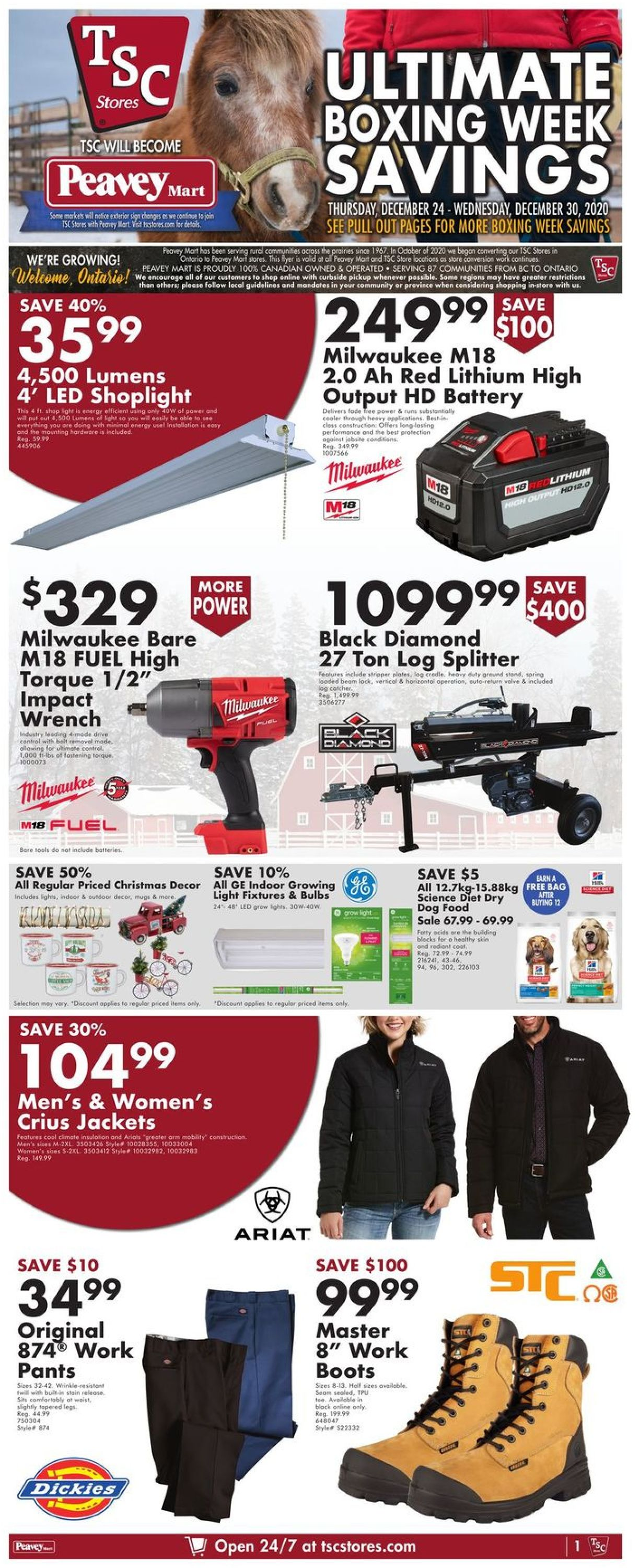 TSC Stores - Boxing Week 2020 Flyer - 12/24-12/30/2020