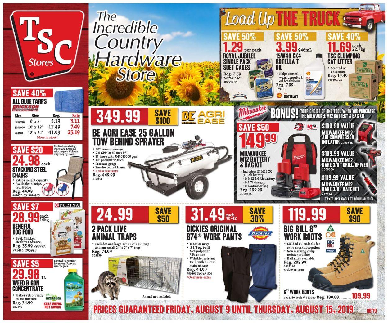 TSC Stores Flyer - 08/09-08/15/2019