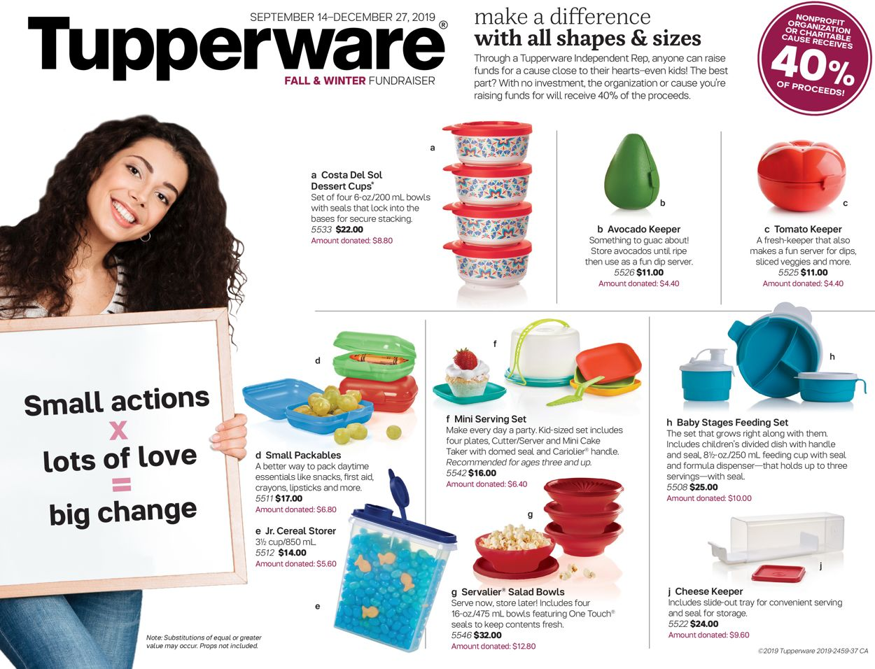 Tupperware Flyer - 09/14-12/27/2019