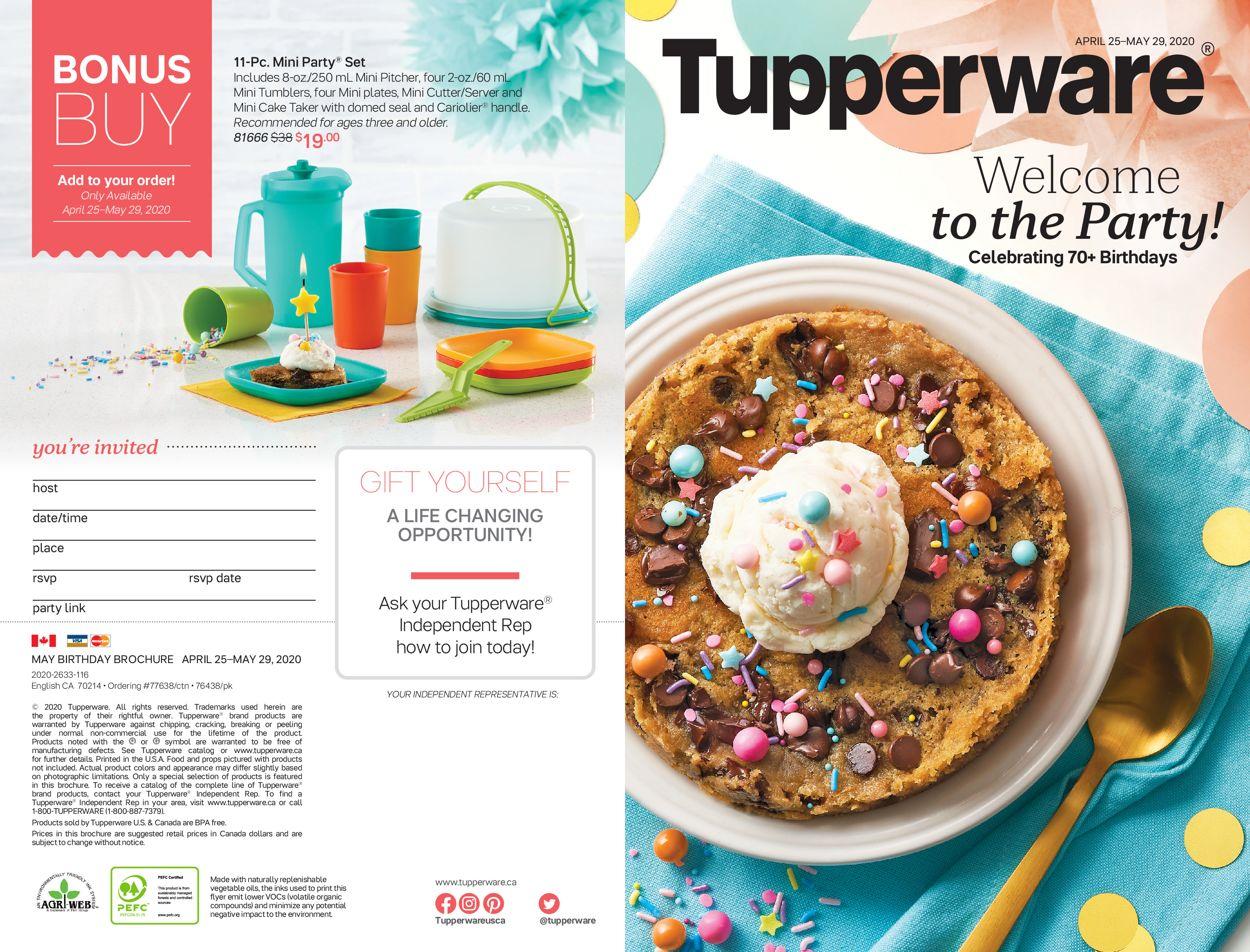 Tupperware Flyer - 04/25-05/29/2020