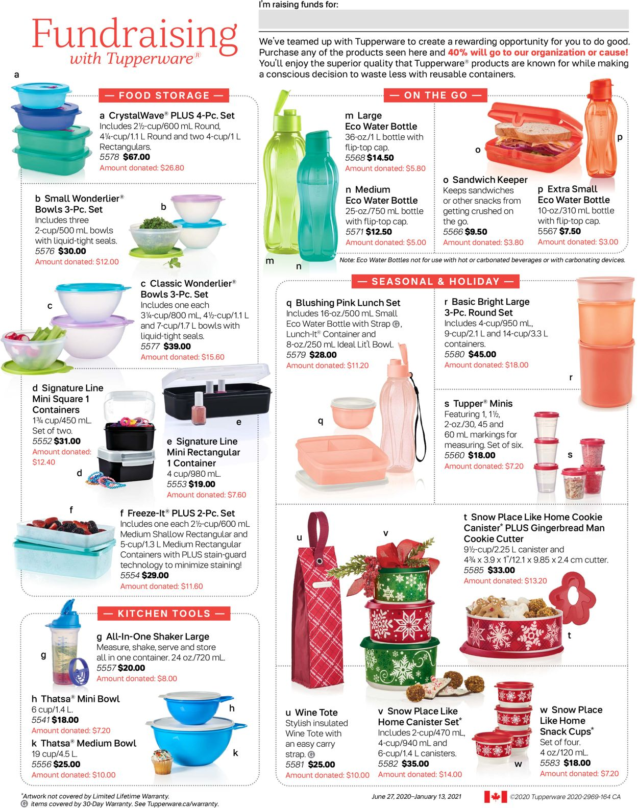 Tupperware Flyer - 06/27-01/13/2021