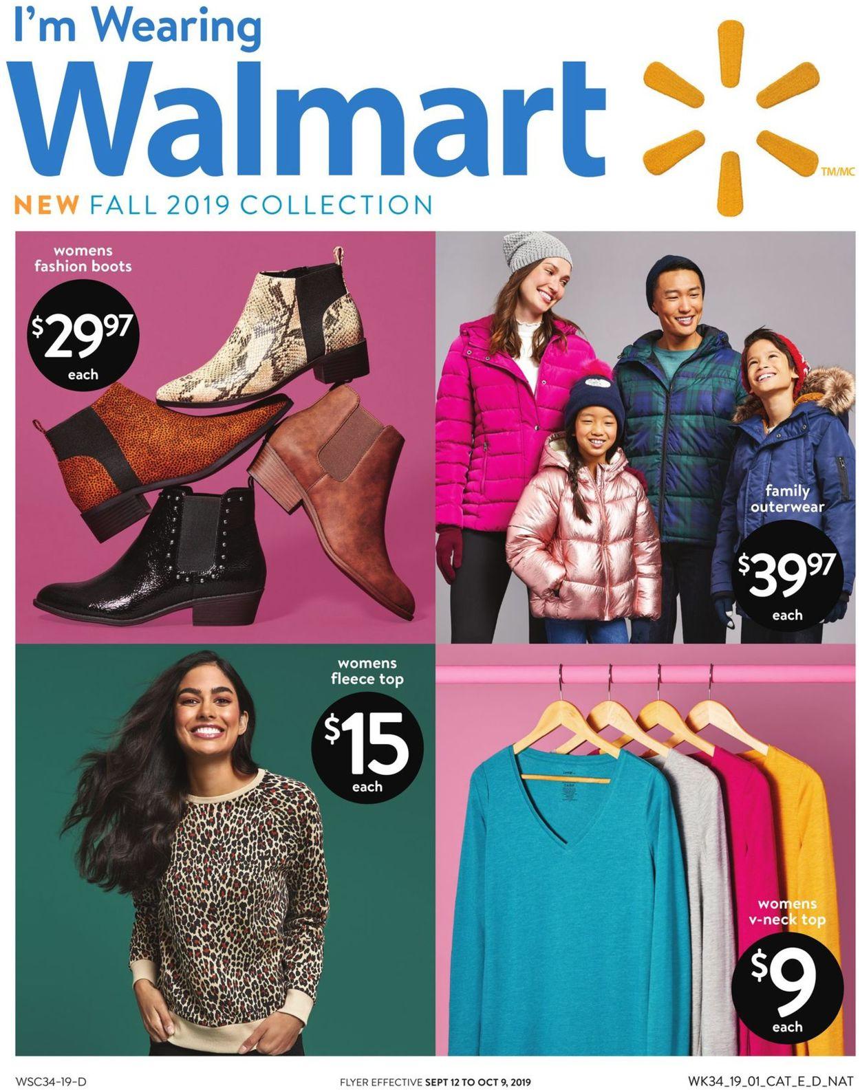 Walmart Flyer - 09/12-10/09/2019