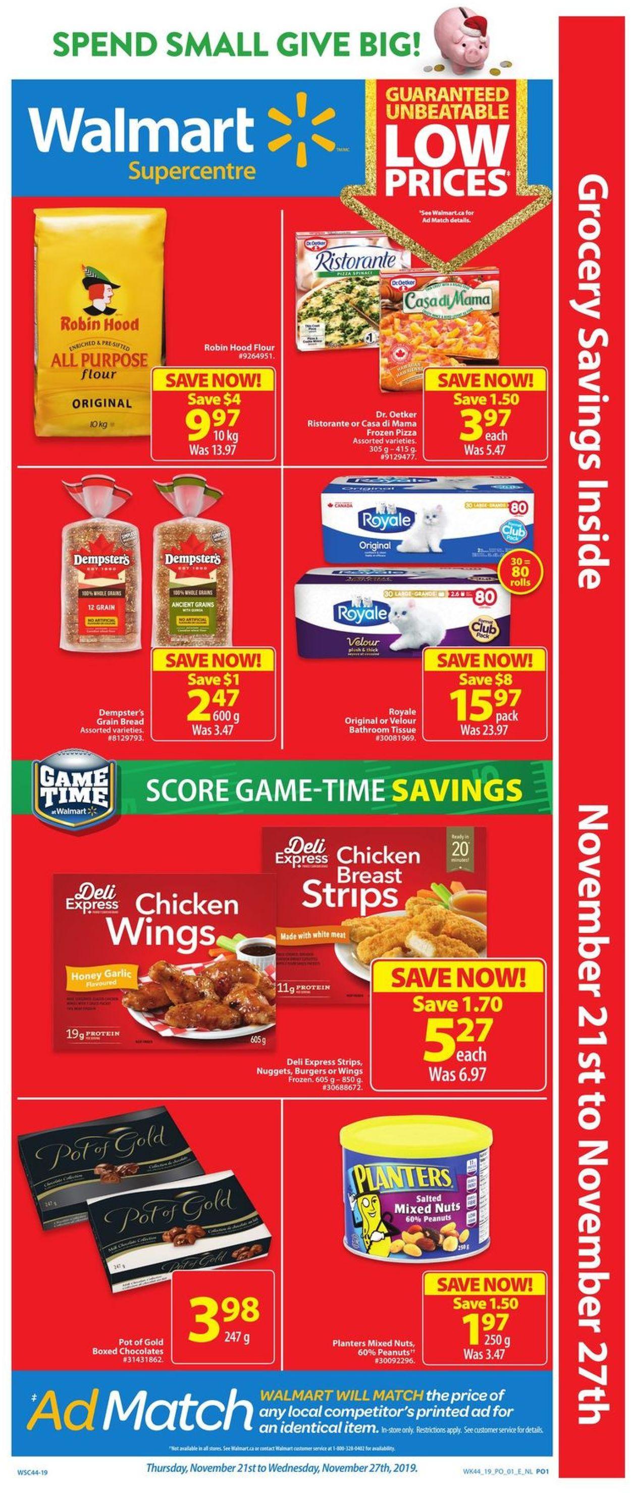 Walmart Flyer - 11/21-11/27/2019