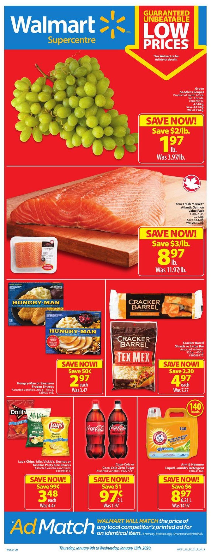 Walmart Flyer - 01/09-01/15/2020