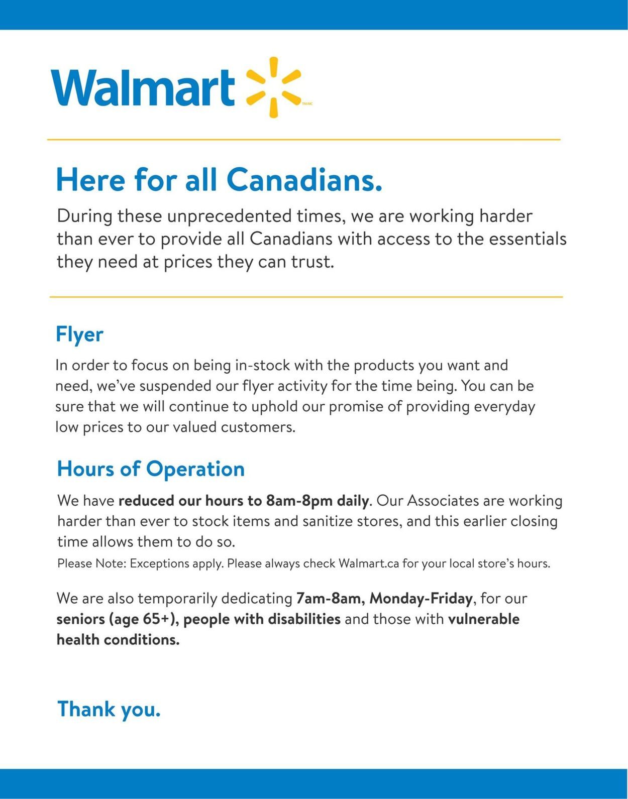 Walmart Flyer - 03/25-04/02/2020