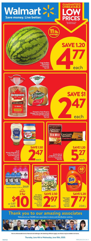 Walmart Flyer - 06/04-06/10/2020
