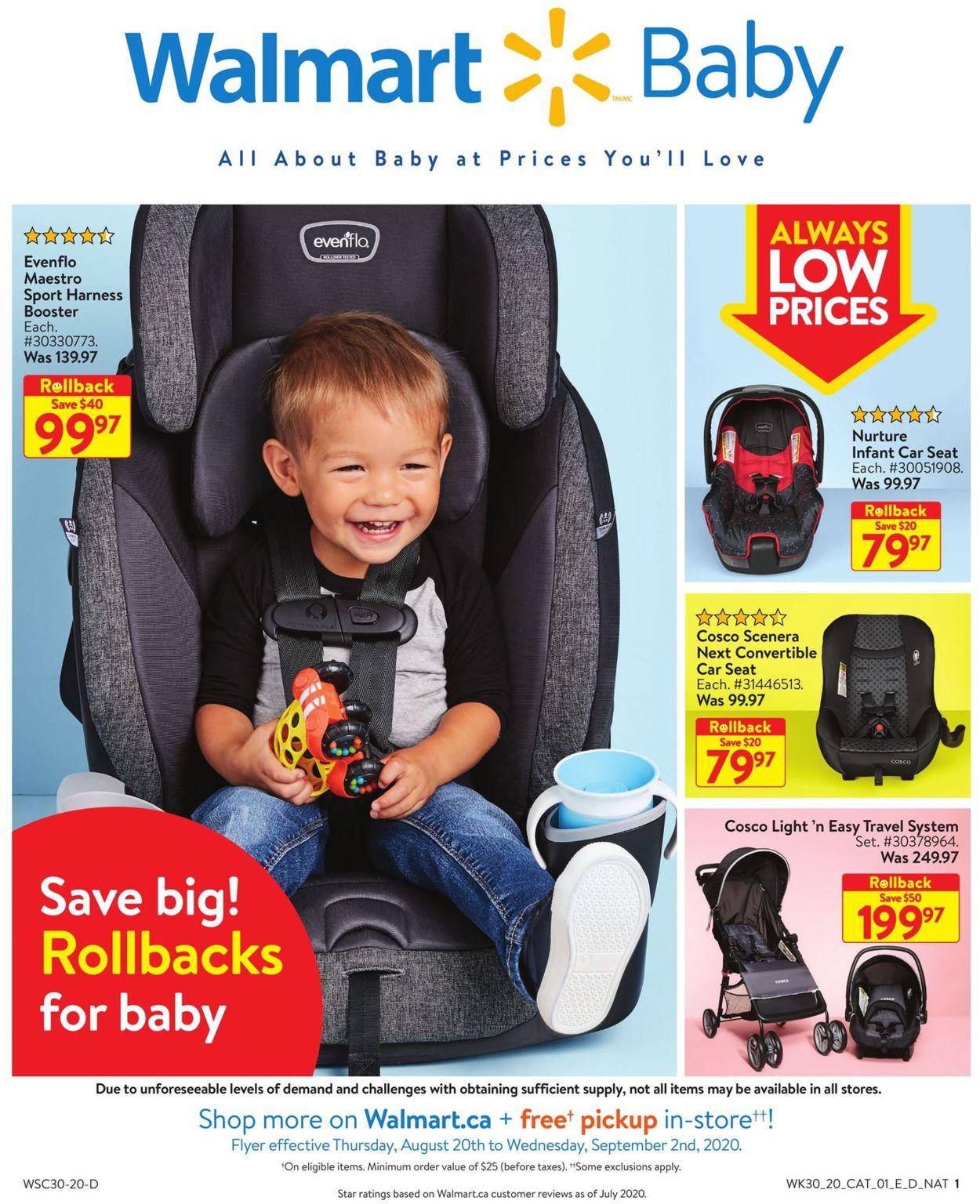 Walmart Flyer - 08/20-09/02/2020