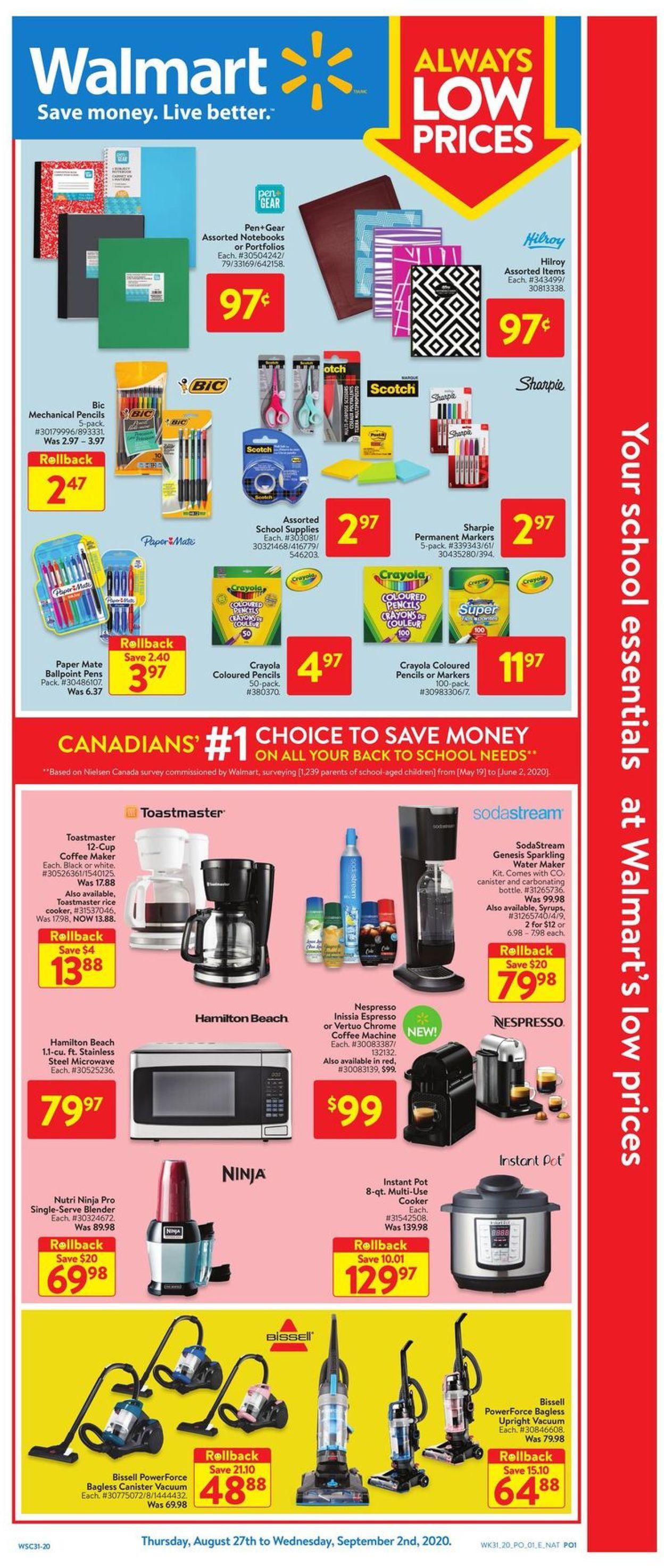 Walmart Flyer - 08/27-09/02/2020