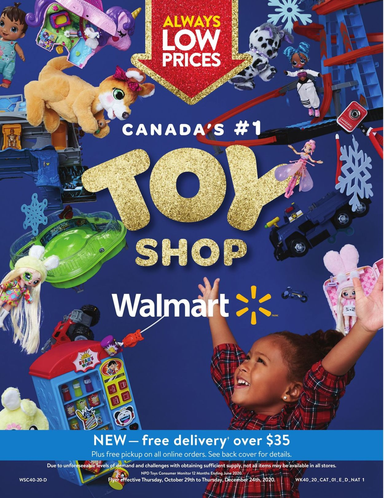 Walmart - Holidays 2020 Gift Guide Flyer - 10/29-12/24/2020