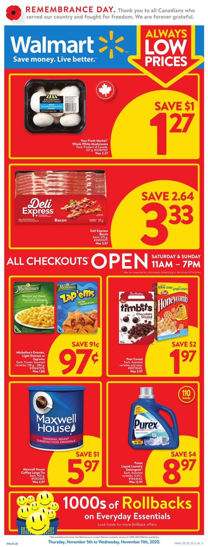 Walmart Flyer - 11/05-11/11/2020