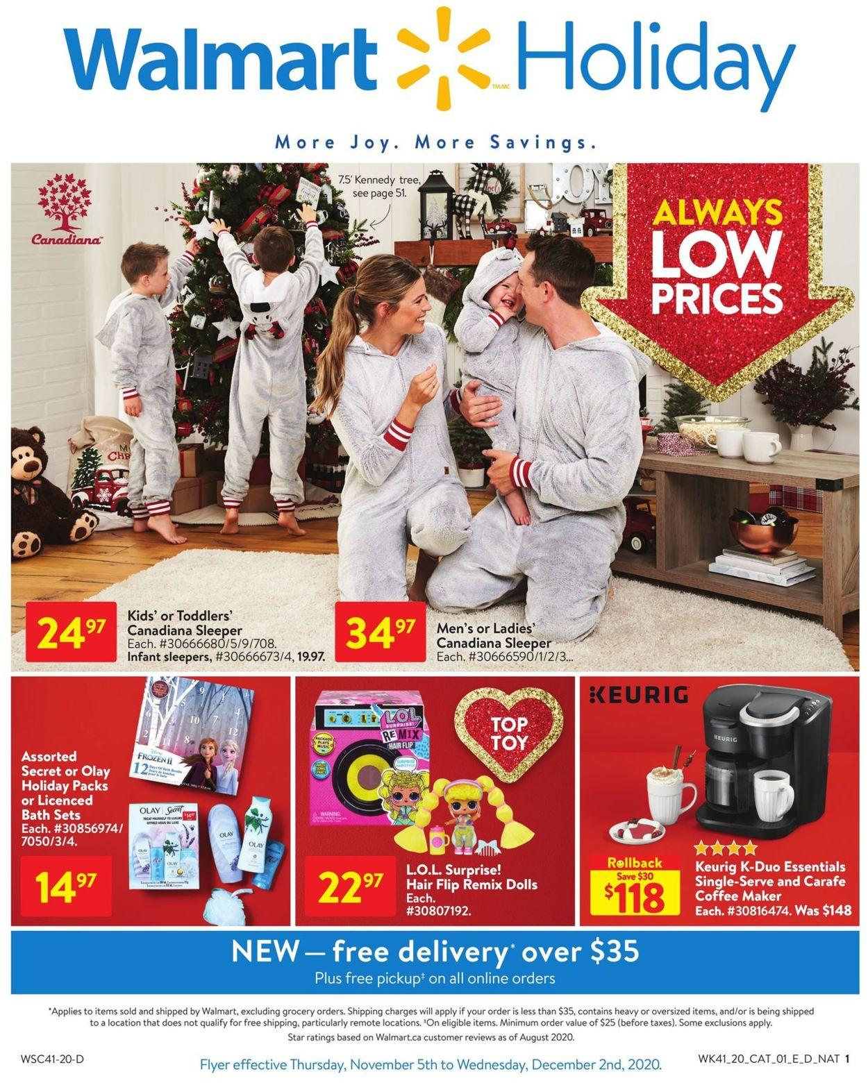 Walmart - Holiday 2020 Flyer - 11/05-12/02/2020
