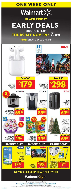 Walmart - Black Friday 2020 Flyer - 11/19-11/25/2020