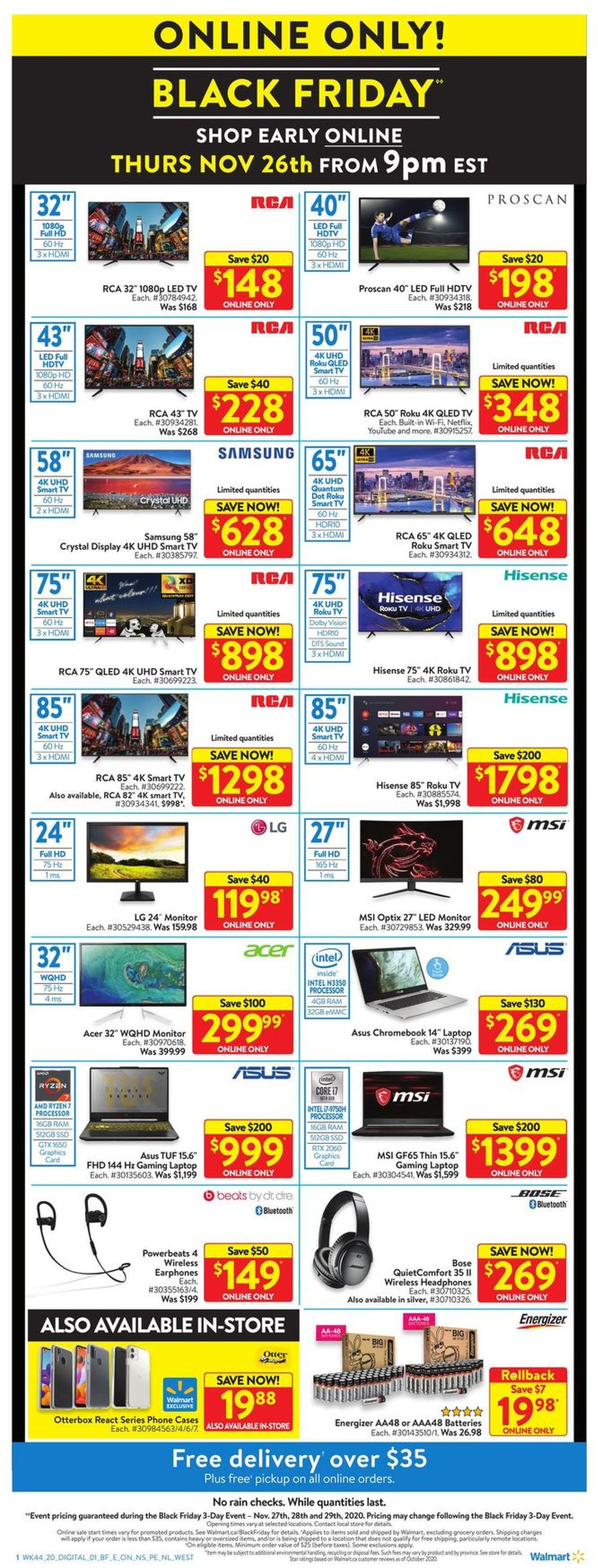 Walmart - Black Friday 2020 Flyer - 11/27-11/29/2020 (Page 7)
