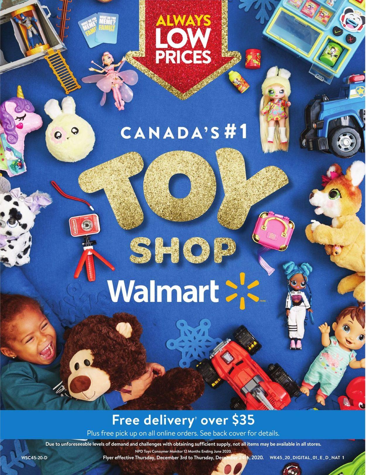 Walmart - Holiday 2020 Flyer - 12/03-12/24/2020