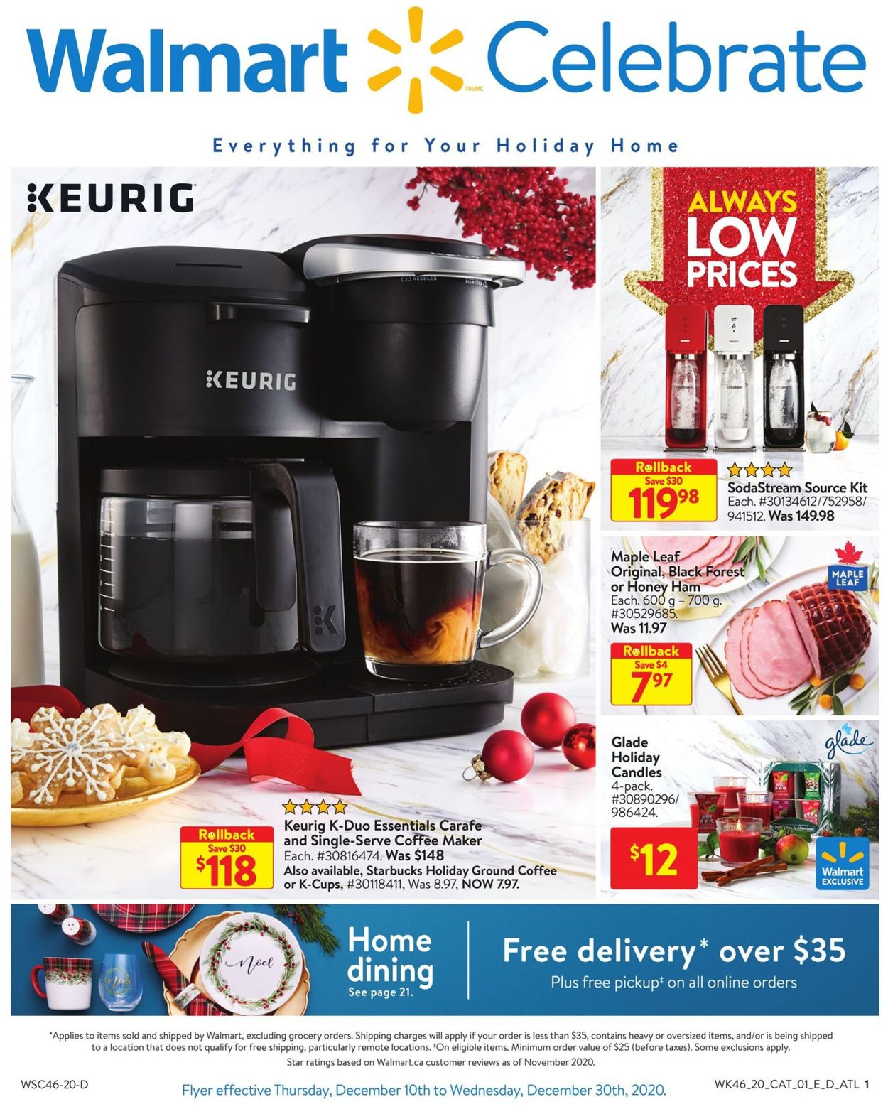 Walmart - Holiday 2020 Flyer - 12/10-12/30/2020