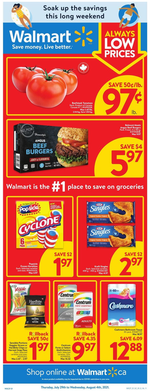 Walmart Flyer - 07/29-08/04/2021
