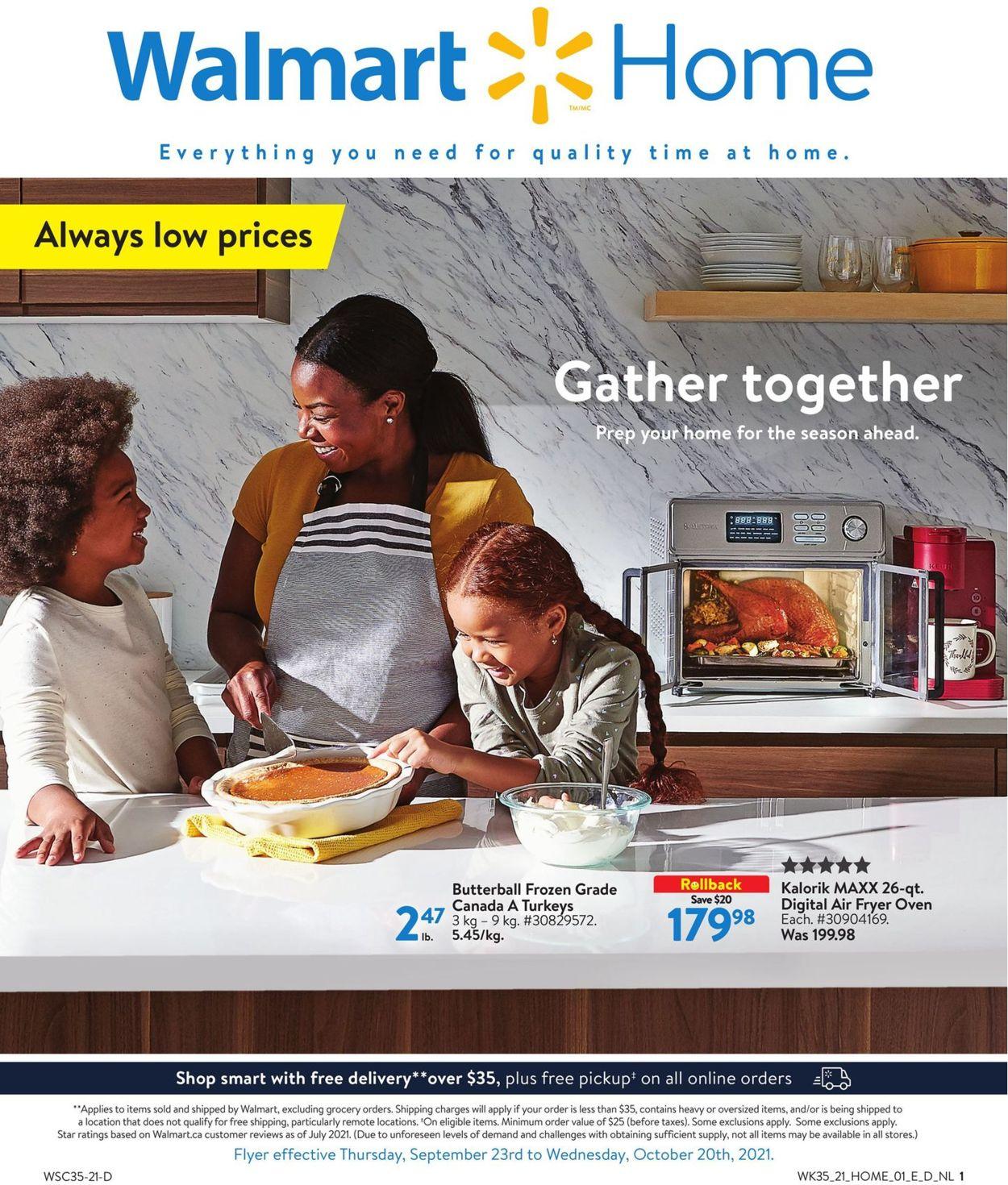 Walmart Flyer - 09/23-10/20/2021