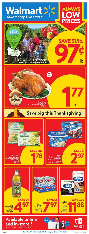 Walmart Flyer - 10/07-10/13/2021