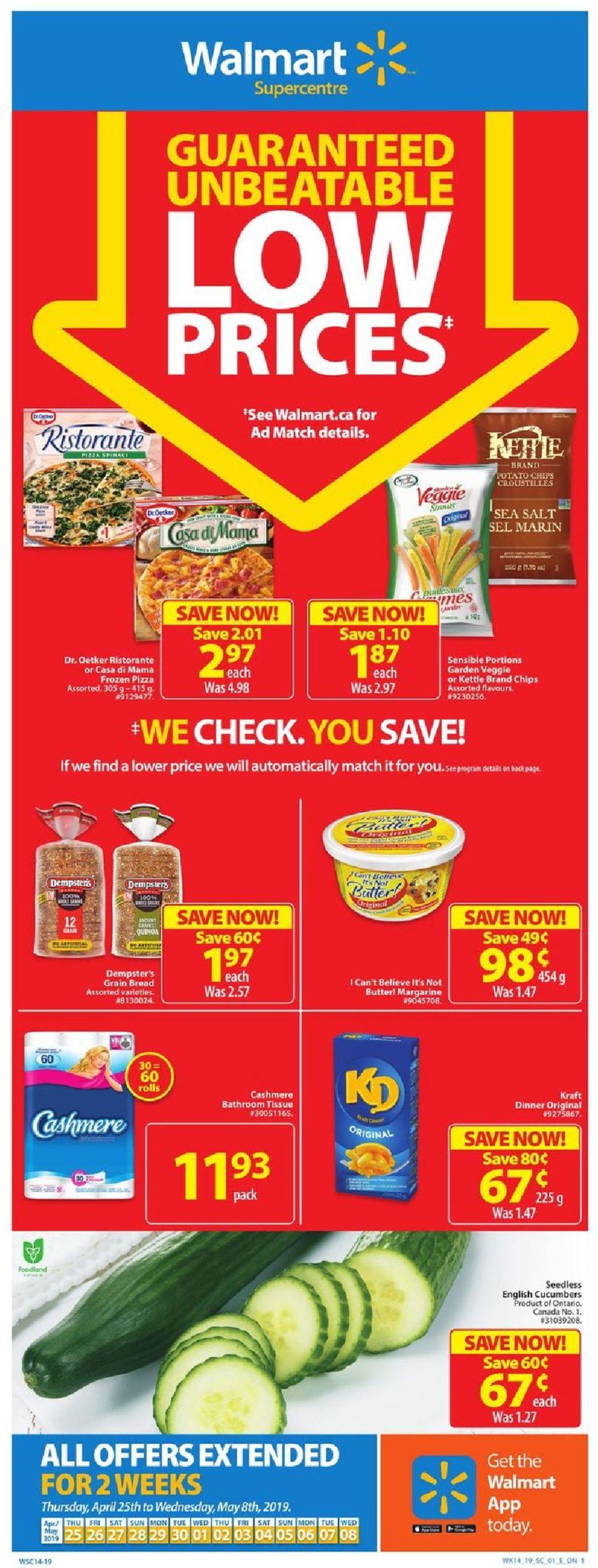 Walmart Flyer - 04/25-05/08/2019