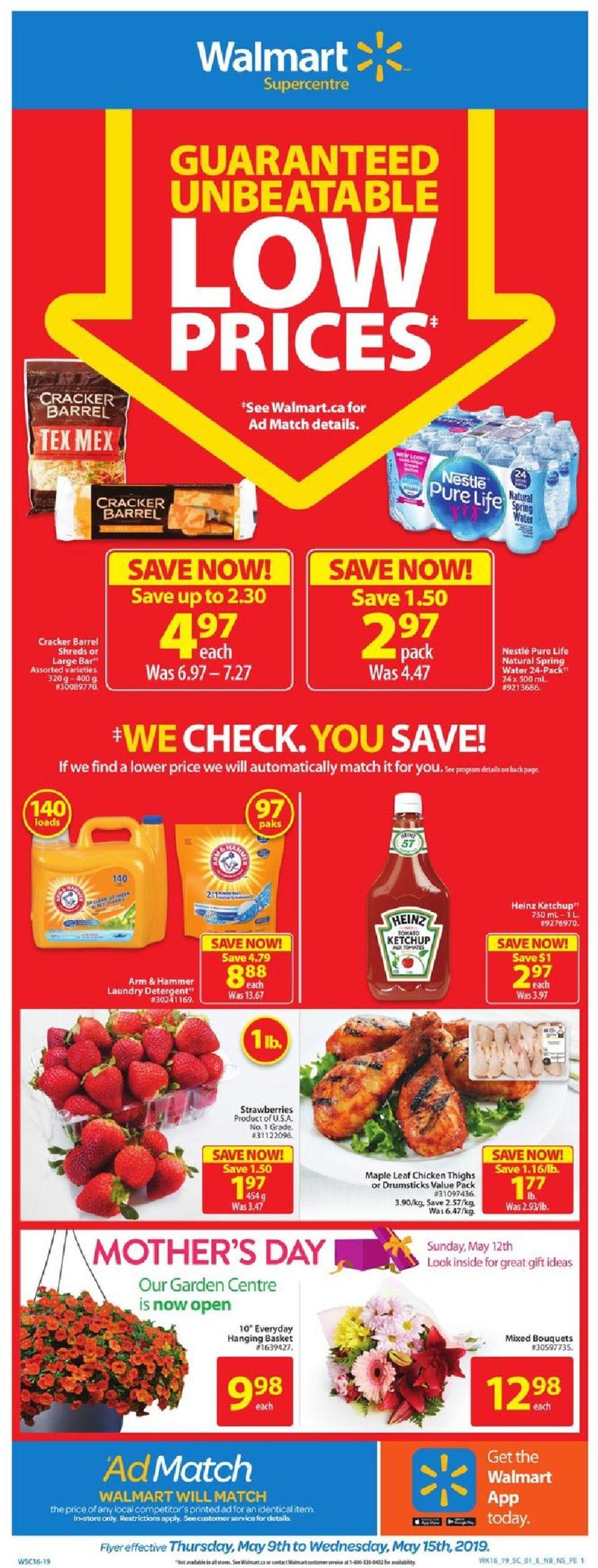 Walmart Flyer - 05/09-05/15/2019
