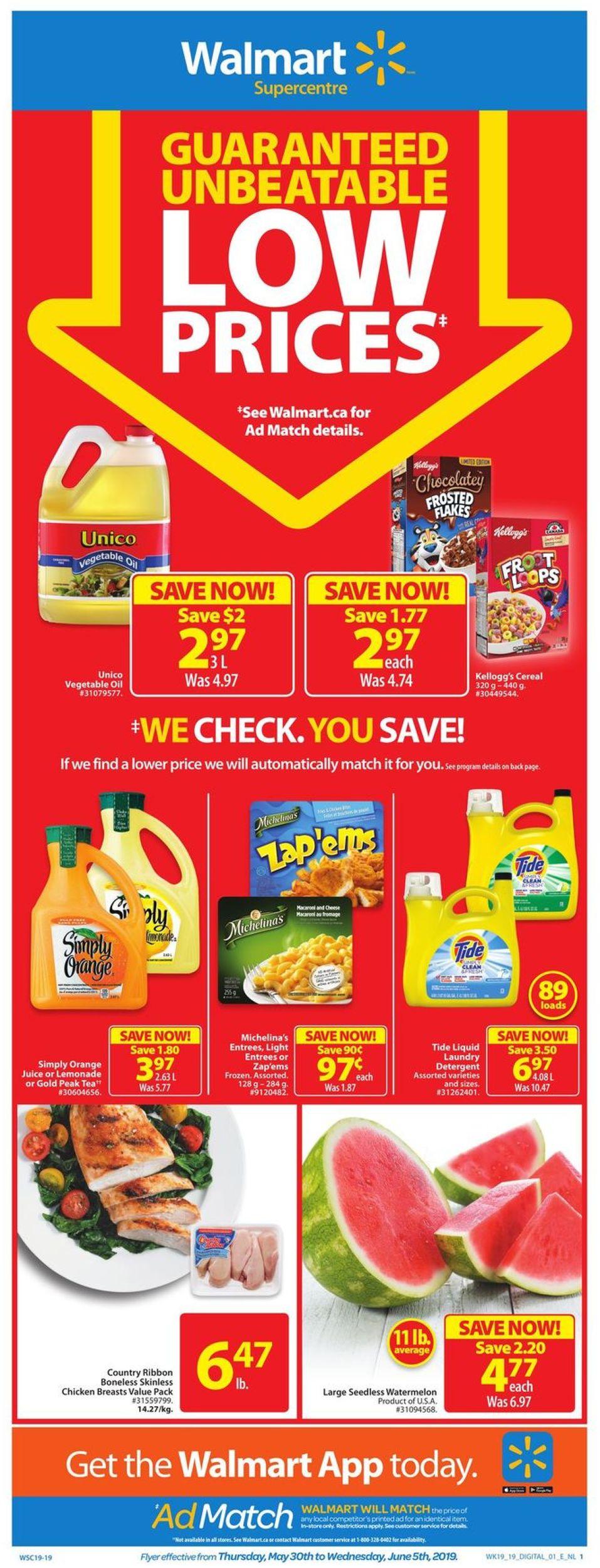 Walmart Flyer - 05/30-06/05/2019