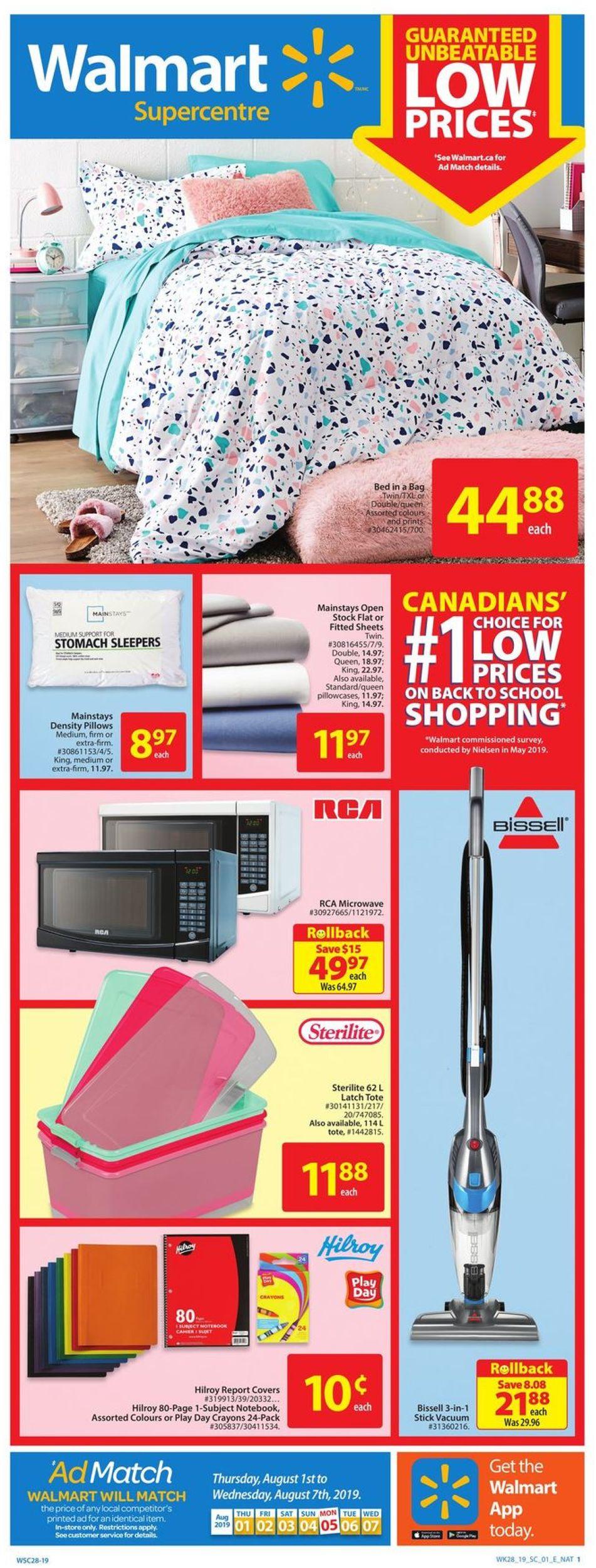 Walmart Flyer - 08/01-08/07/2019