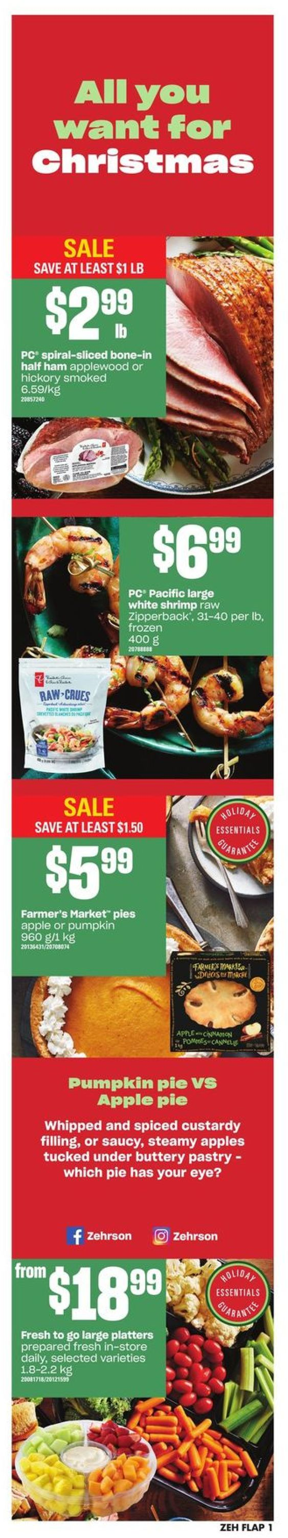 Zehrs Christmas Flyer 2019