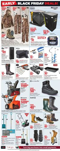Canadian Tire EARLY BLACK FRIDAY DEALS 2019