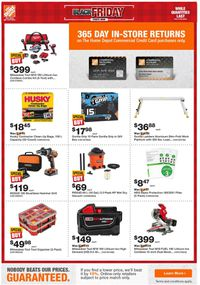 Home Depot - Black Friday 2020