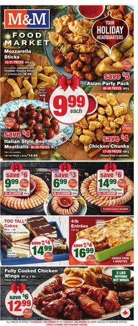 M&M Food Market - Holiday Flyer 2019