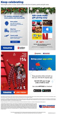 Real Canadian Superstore - Holiday 2019 Deals