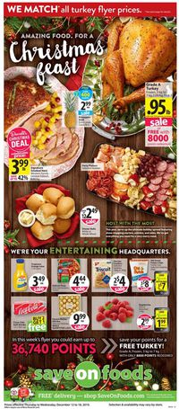 Save-On-Foods - CHRISTMAS 2019 FLYER