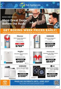 Trail Appliances Boxing Week Sale