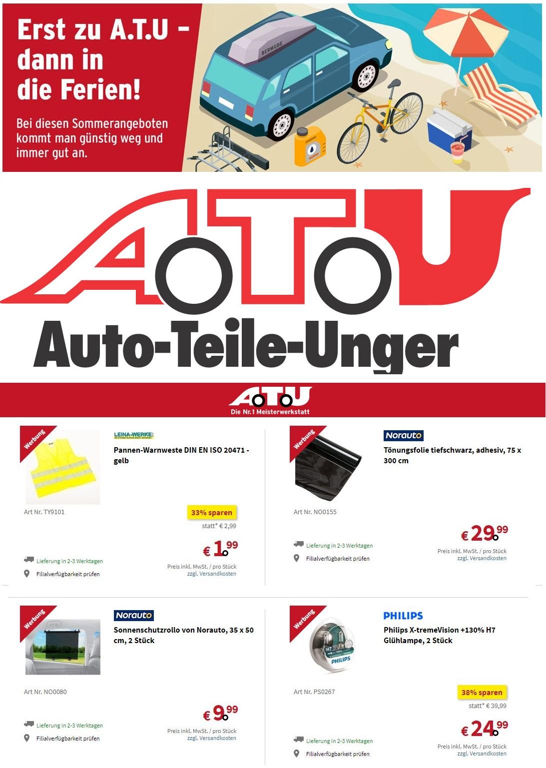 A.T.U Prospekt - Aktuell vom 02.08-09.08.2019