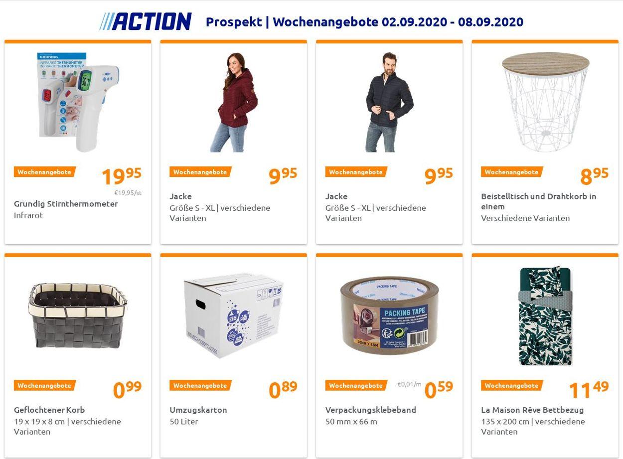Action Prospekt - Aktuell vom 02.09-08.09.2020