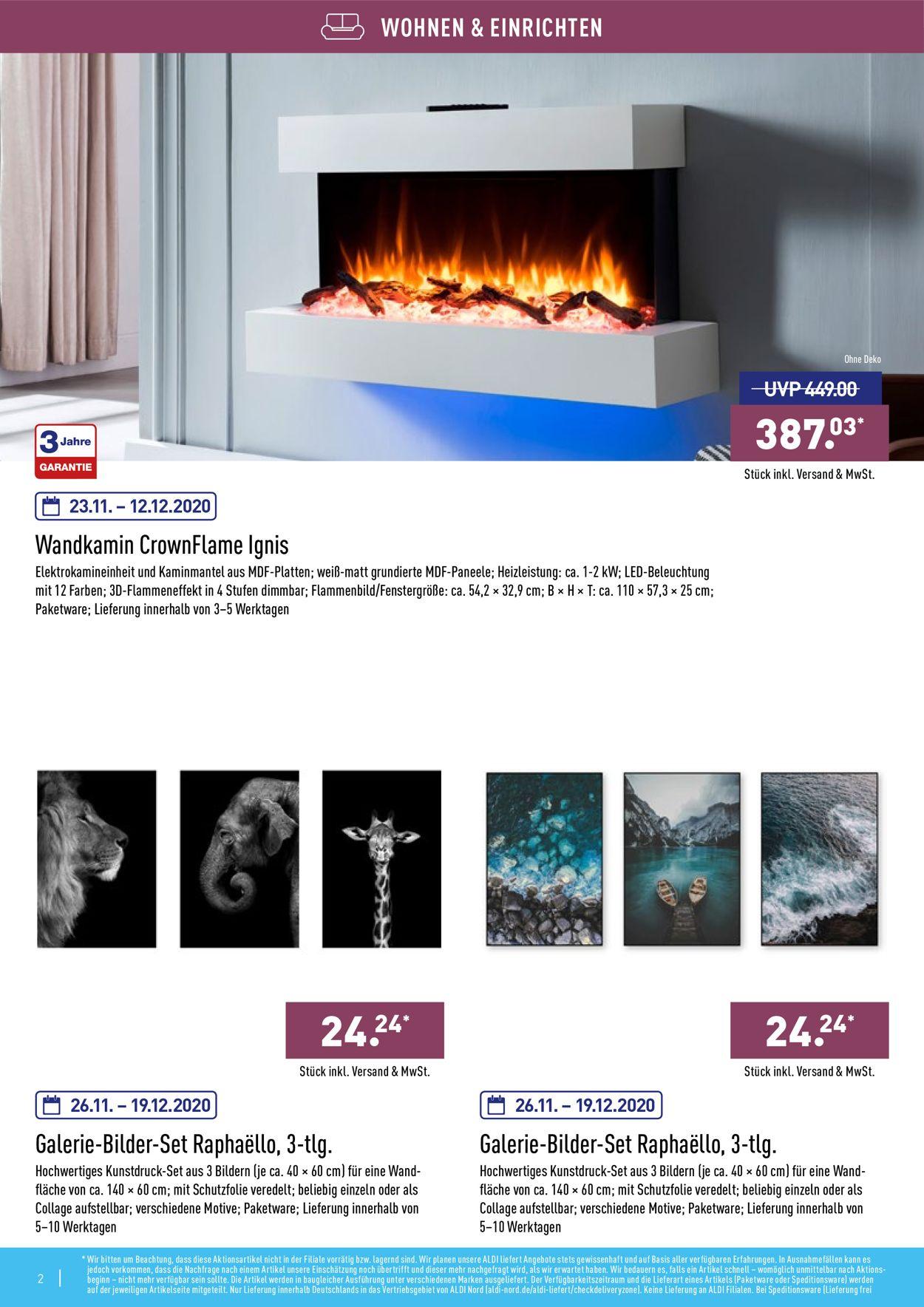 ALDI Nord Prospekt - Aktuell vom 23.11-26.12.2020 (Seite 2)