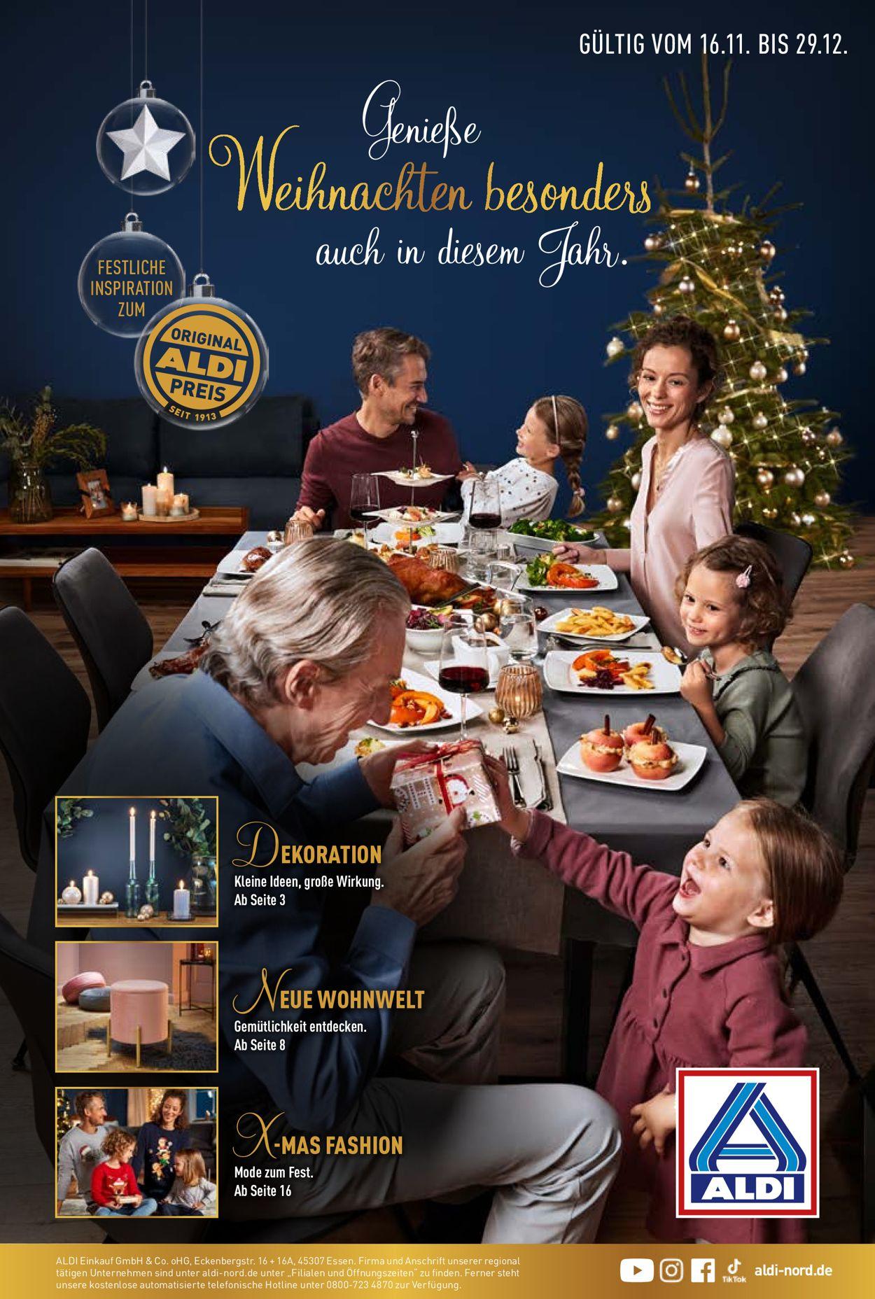 ALDI Nord Weihnachtsprospekt 2020 Prospekt - Aktuell vom 16.11-29.12.2020