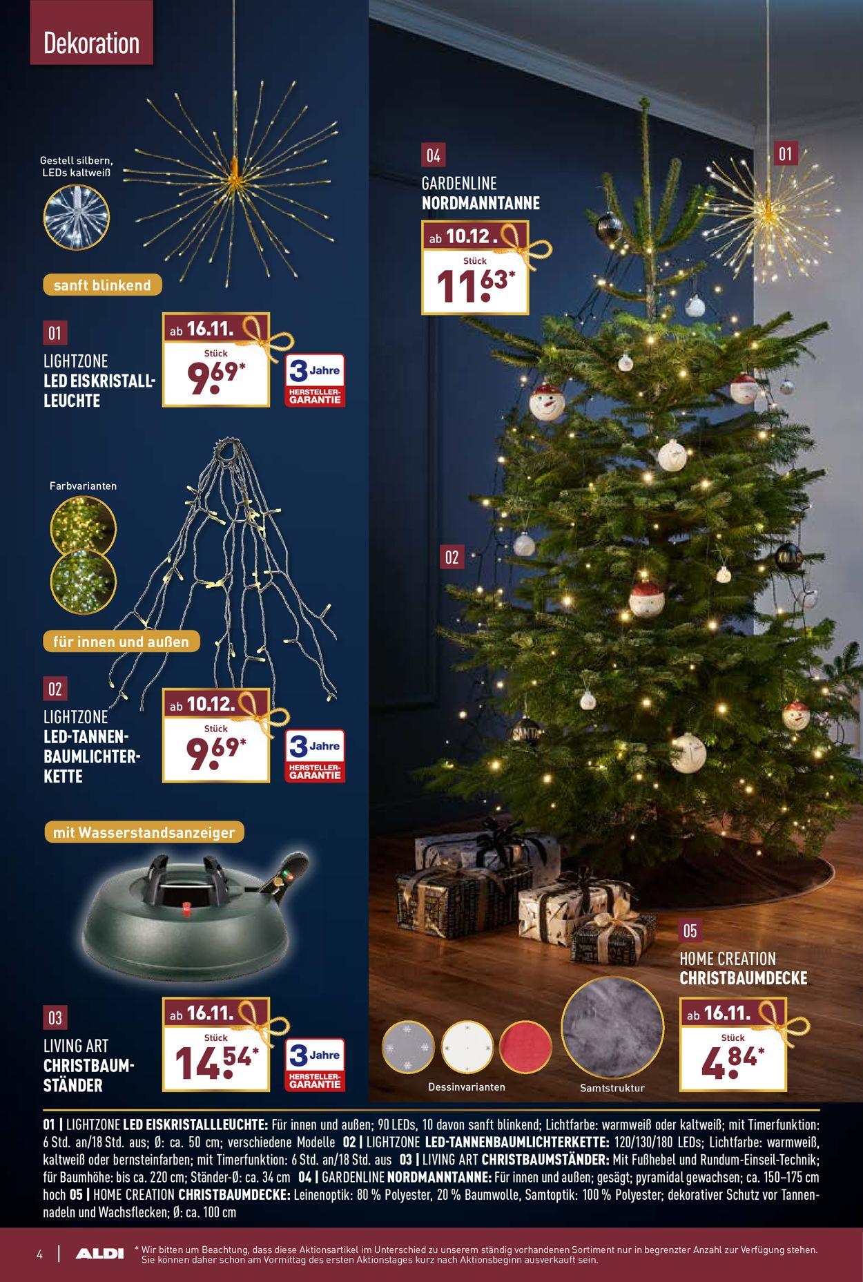 ALDI Nord Weihnachtsprospekt 2020 Prospekt - Aktuell vom 16.11-29.12.2020 (Seite 4)
