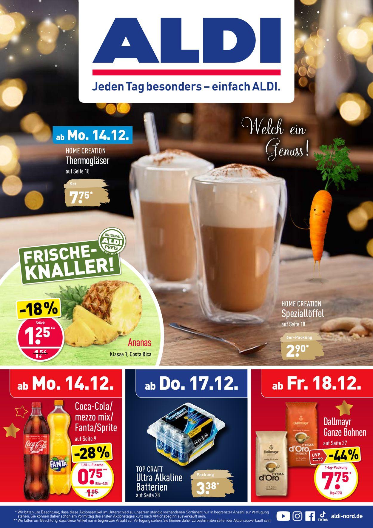 ALDI Nord Weihnachtsprospekt 2020 Prospekt - Aktuell vom 14.12-19.12.2020