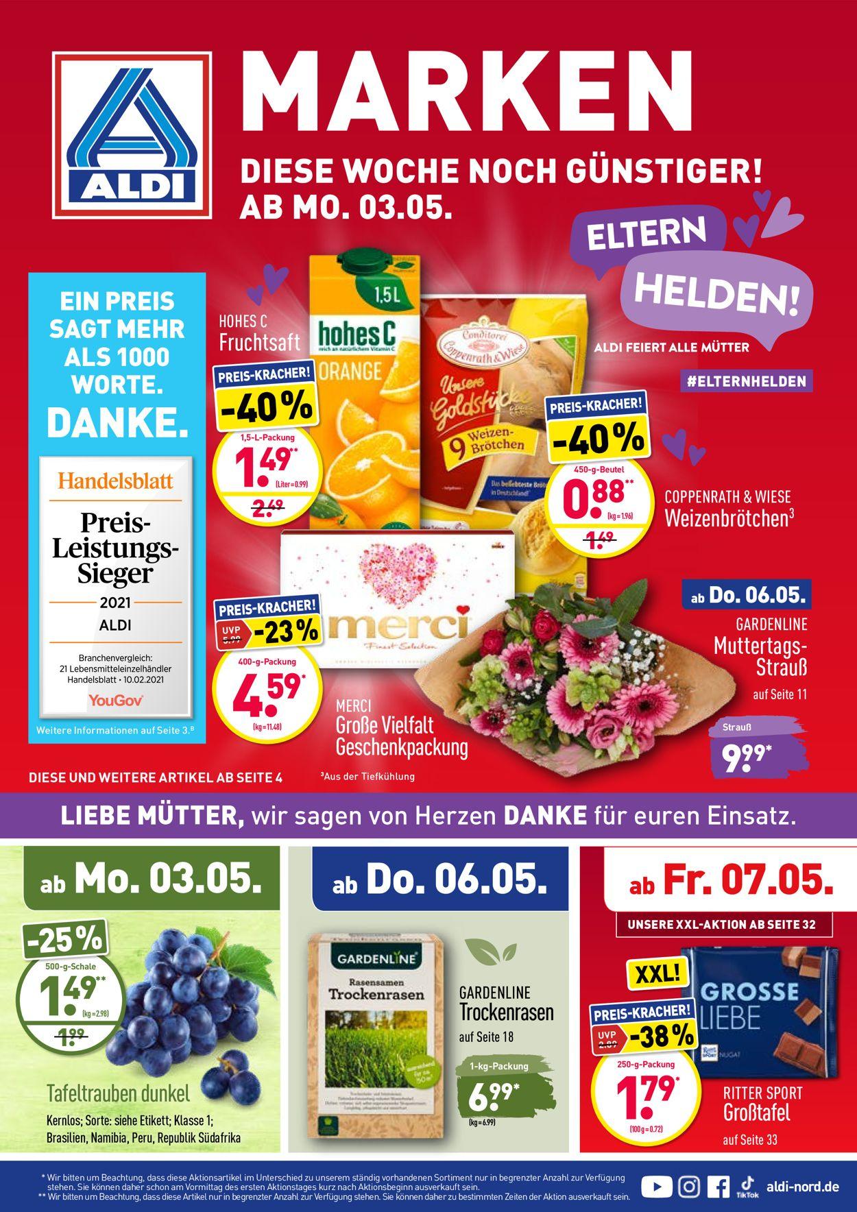 ALDI Nord Prospekt - Aktuell vom 03.05-08.05.2021