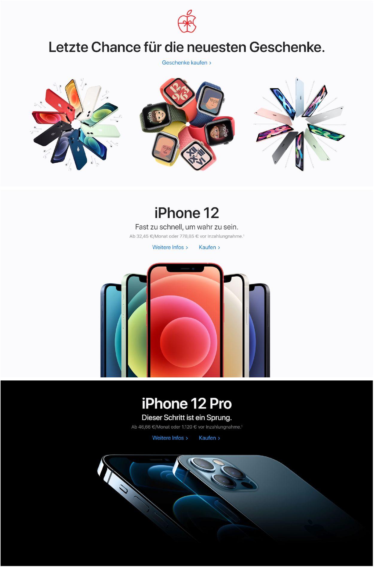 Apple Weihnachtsprospekt 2020 Prospekt - Aktuell vom 24.12-30.12.2020