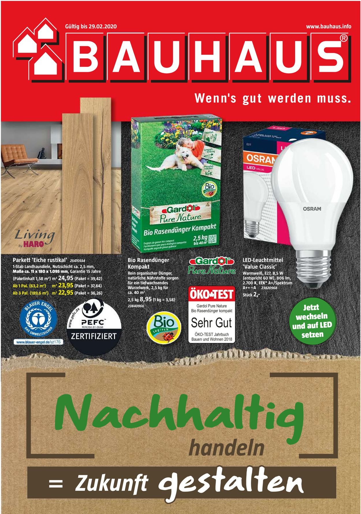 Bauhaus Prospekt - Aktuell vom 01.02-29.02.2020